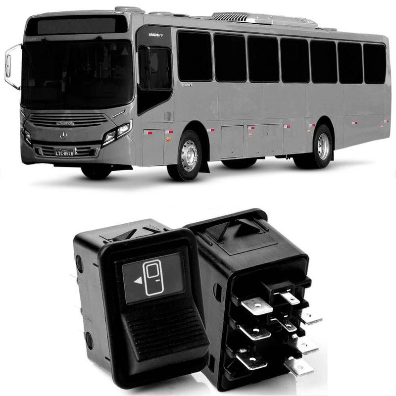 Botão Interruptor Acionamento Porta Ônibus Mercedes Dianteira 24V 3833178