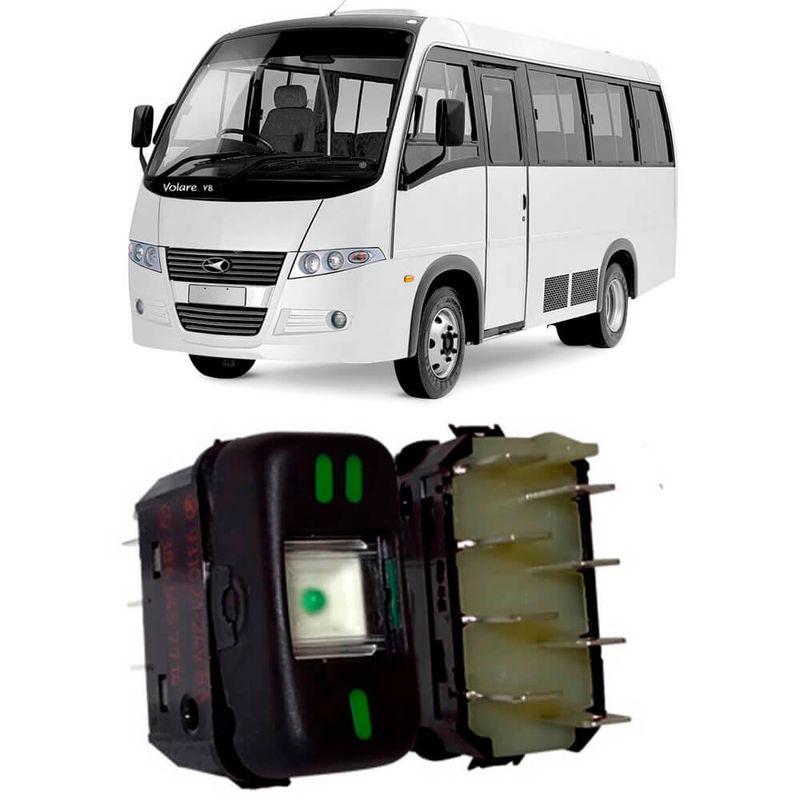 Botão Interruptor Painel Agrale Micro Ônibus Kostal 3931021
