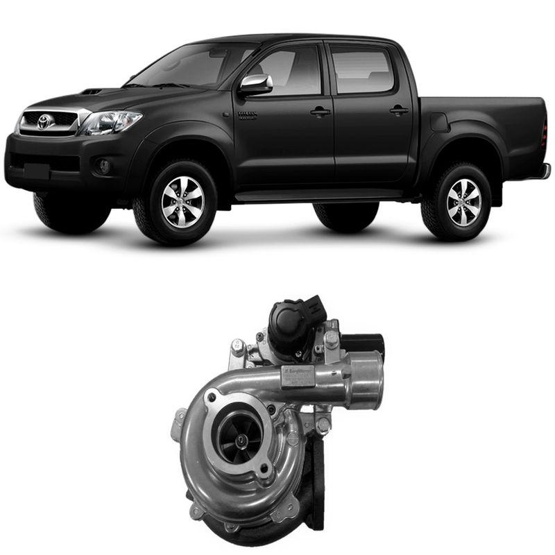 Turbina Motor Toyota Hilux 3.0 D4-D 1KD 2006 a 2015 Com Atuador Borgwarner