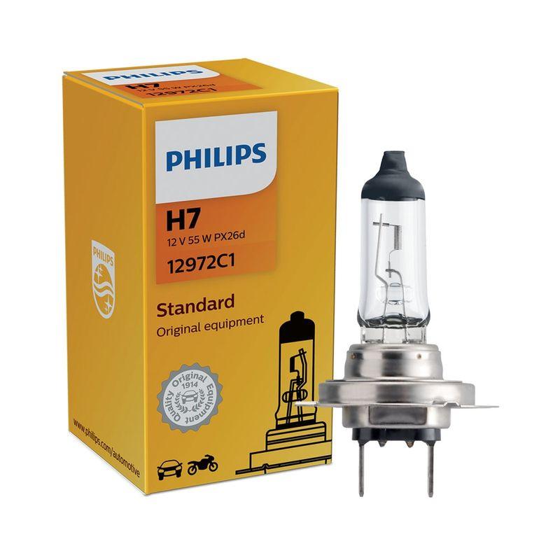 Lâmpada Philips Standard 55W 12V H7 PX26d Hiodo Farol