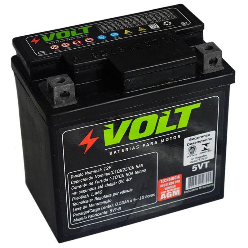 Bateria Moto Volt Selada 5 Amperes 12v