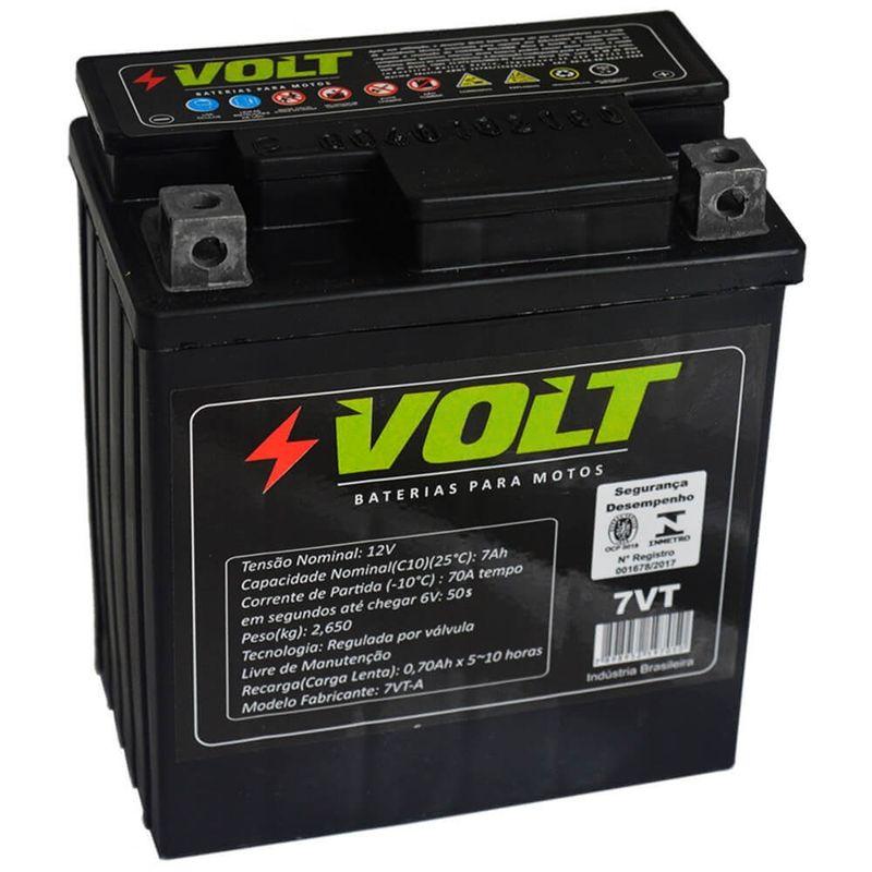 Bateria Moto Volt 7VT Selada 7 Amperes 12v