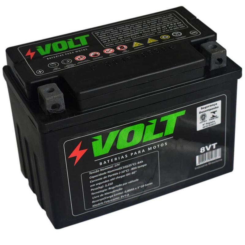 Bateria Moto Volt 8VT Selada 8 Amperes 12v