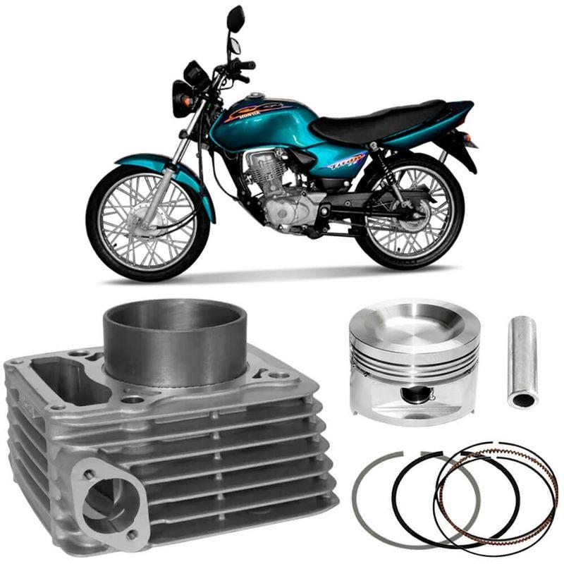 Kit Motor Cilindro Moto Cg 125 Titan 2000 a 2004 Gasolina