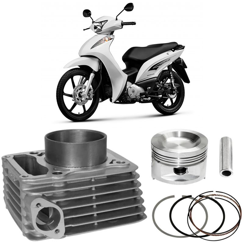 Kit Motor Cilindro Moto Honda Biz 100 98 a 2015 Original