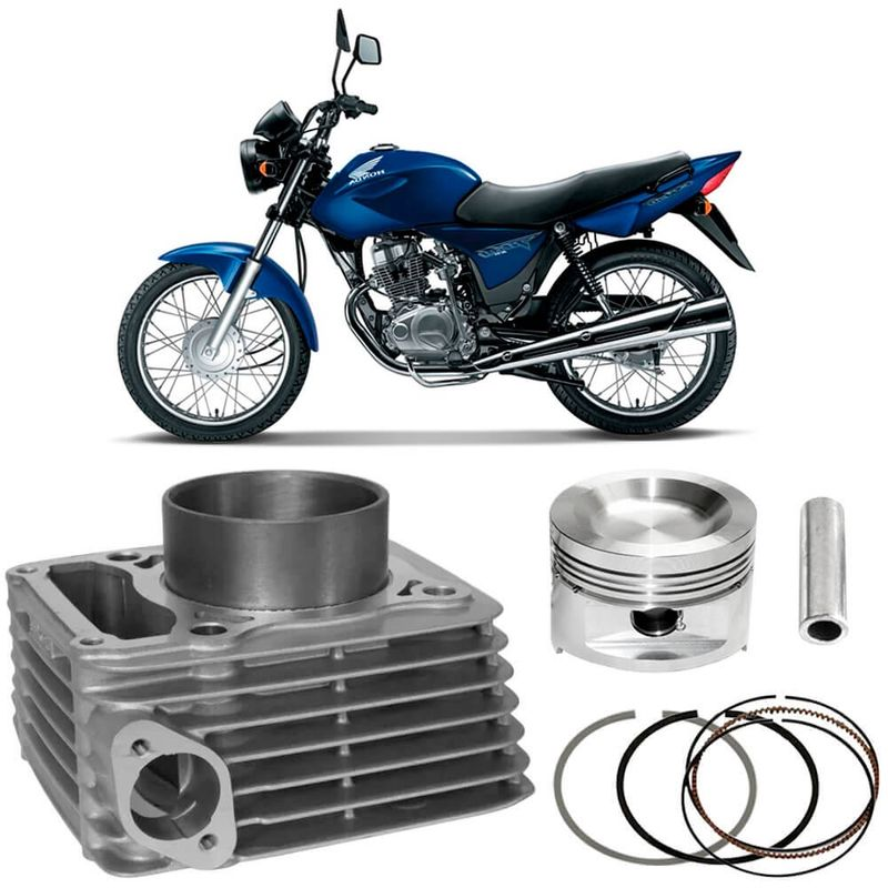 Kit Motor Cilindro Cg 150 Titan 2004 a 2009 Gasolina