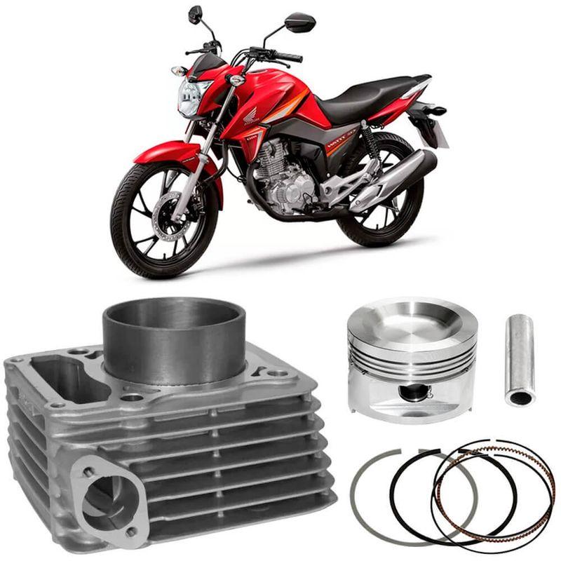 Kit Motor Cilindro Moto Honda Titan 160 2016 a 2017 Flex