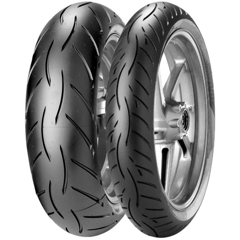 2 Pneu Moto Metzeler 180/55r17 73w 120/70r17 58w Sportec M5 Interact