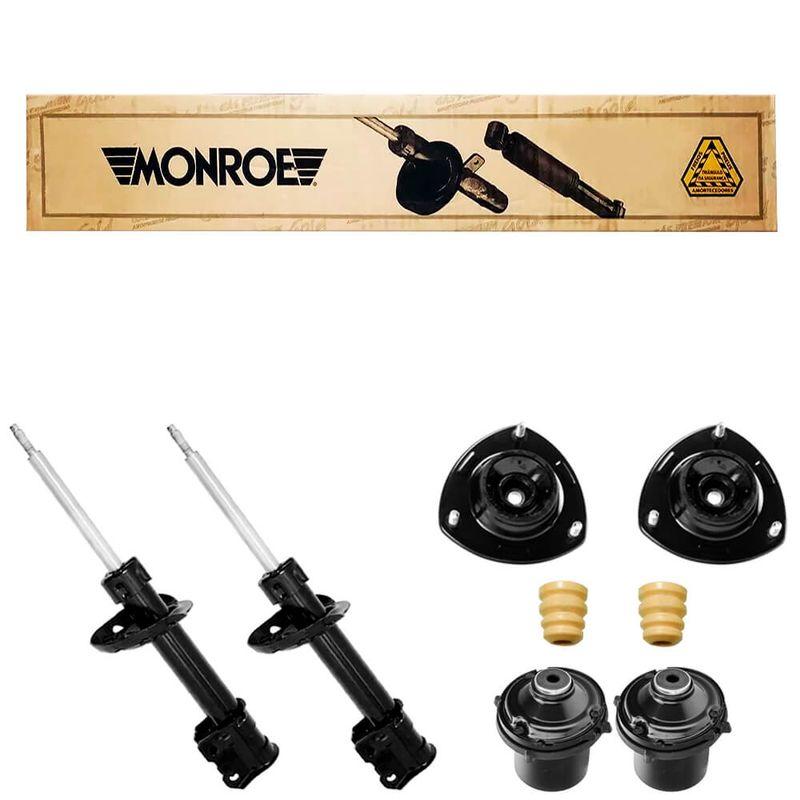 2 Amortecedor Agile 2010 a 2014 Dianteiro SP045 Monroe e Kit