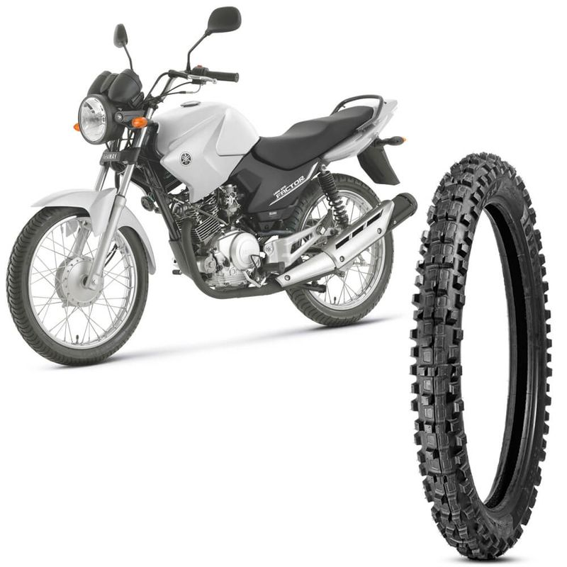 Pneu Moto YBR 125 Factor Levorin by Michelin Aro 18 2.75-18 Nhs Dianteiro Raptor