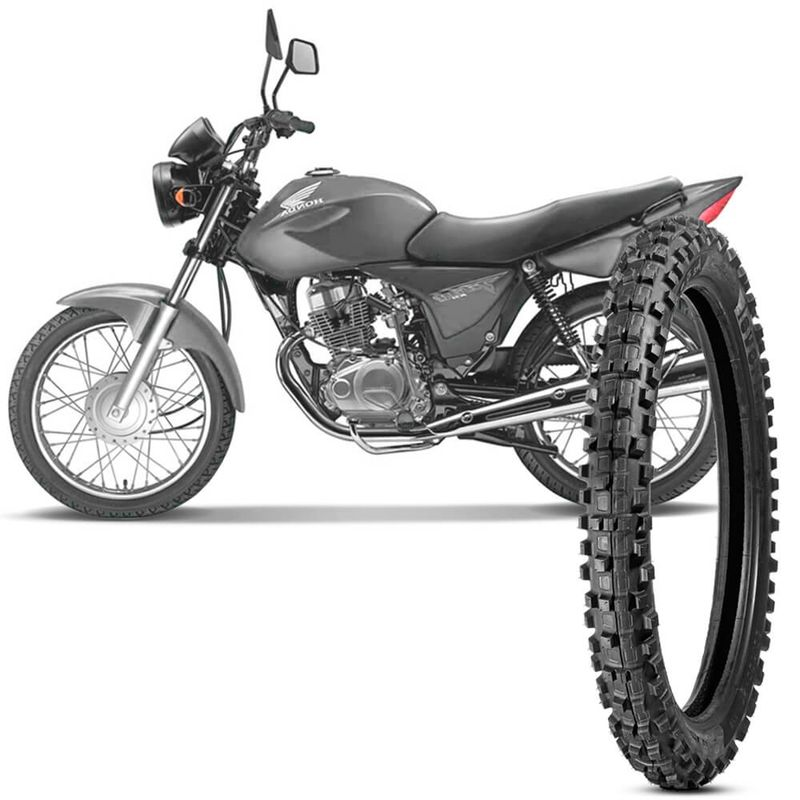 Pneu Moto Cg 150 Titan Levorin by Michelin Aro 18 2.75-18 Nhs Dianteiro Raptor