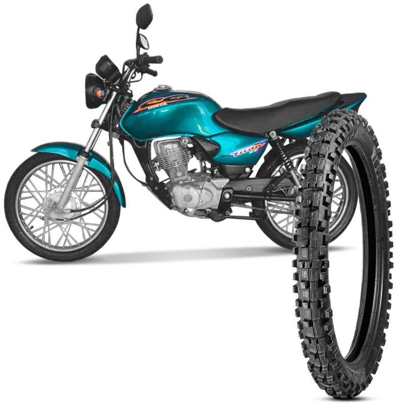 Pneu Moto Titan 125 Levorin by Michelin Aro 18 2.75-18 Nhs Dianteiro Raptor