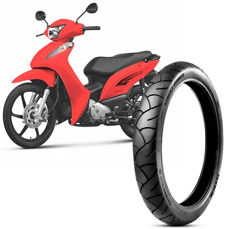 Pneu Moto  Biz 100 Levorin by Michelin Aro 17 60/100-17 33l Dianteiro Street Runner