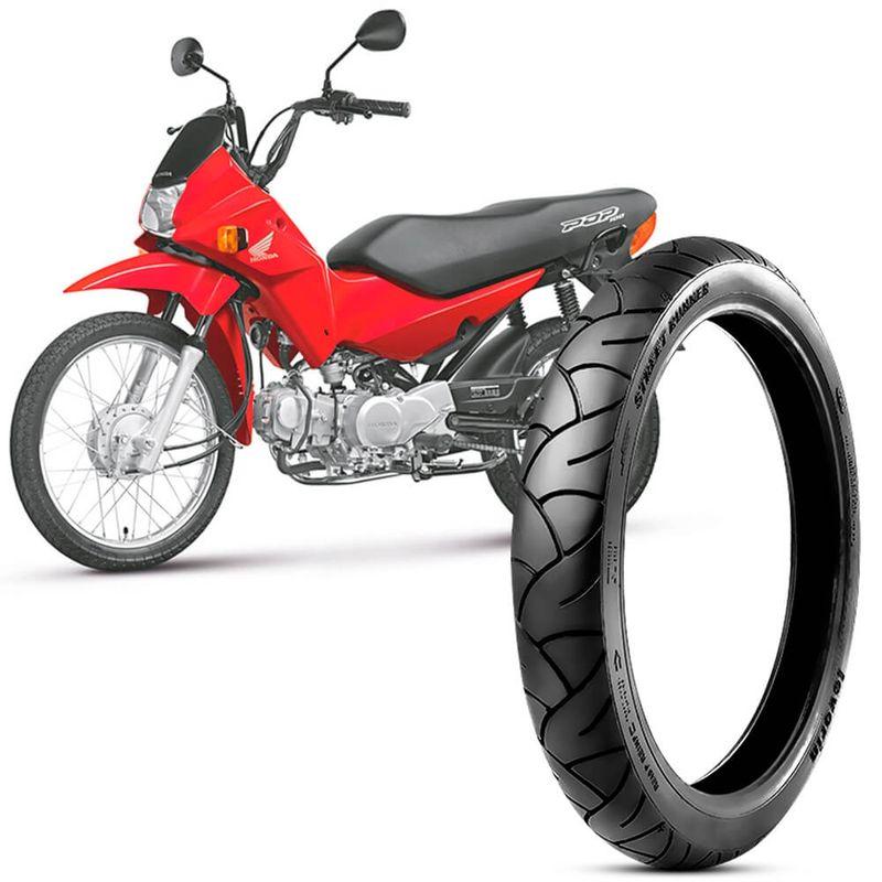 Pneu Moto Pop 100 Levorin by Michelin Aro 17 60/100-17 33l Dianteiro Street Runner