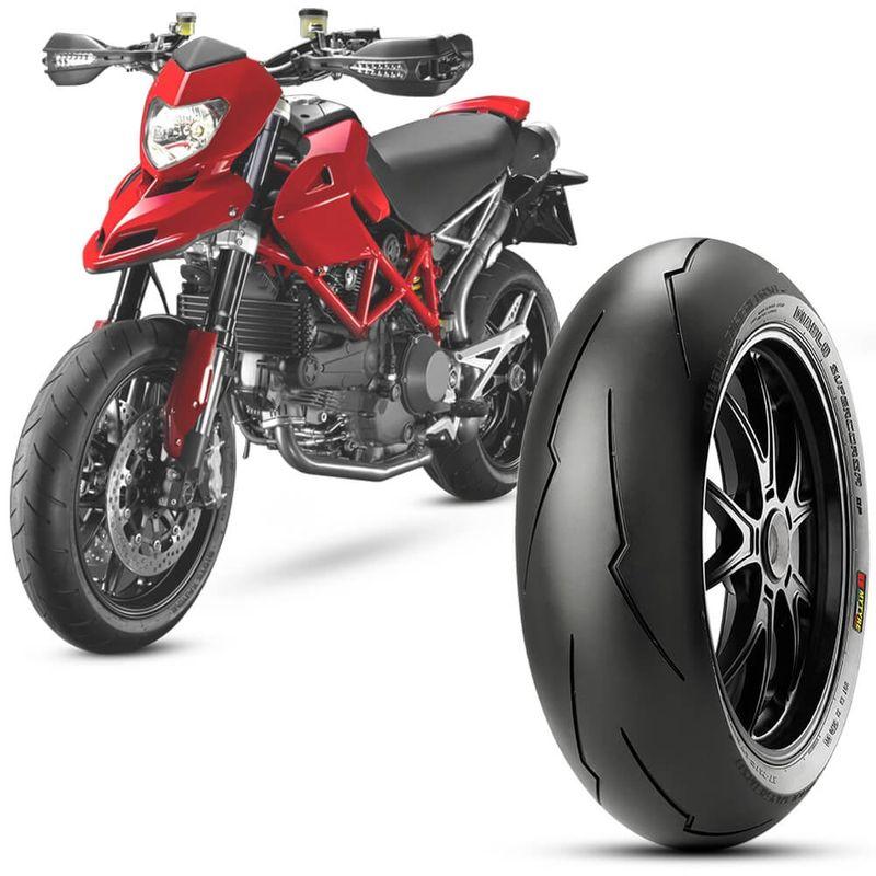Pneu Moto Ducati 796 Pirelli Aro 17 180/55-17 Tl 73w Traseiro Diablo Supercorsa Sp