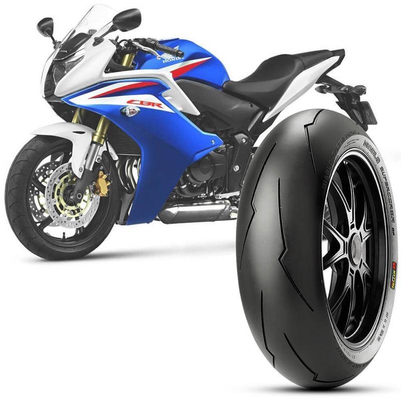 Pneu Moto Cbr 600F Pirelli Aro 17 180/55-17 Tl 73w Traseiro Diablo Supercorsa Sp