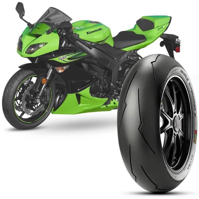 Pneu Moto Ninja Zx 6R Pirelli Aro 17 180/55-17 Tl 73w Traseiro Diablo Supercorsa Sp