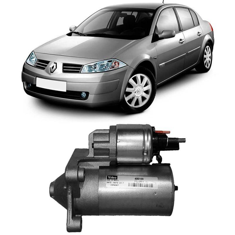 Motor Partida Arranque Renault Megane 2001 a 2011 Valeo