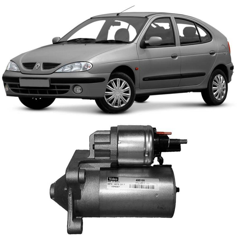 Motor Partida ArranqueÔmegane Hatch 2001 a 2005 Valeo