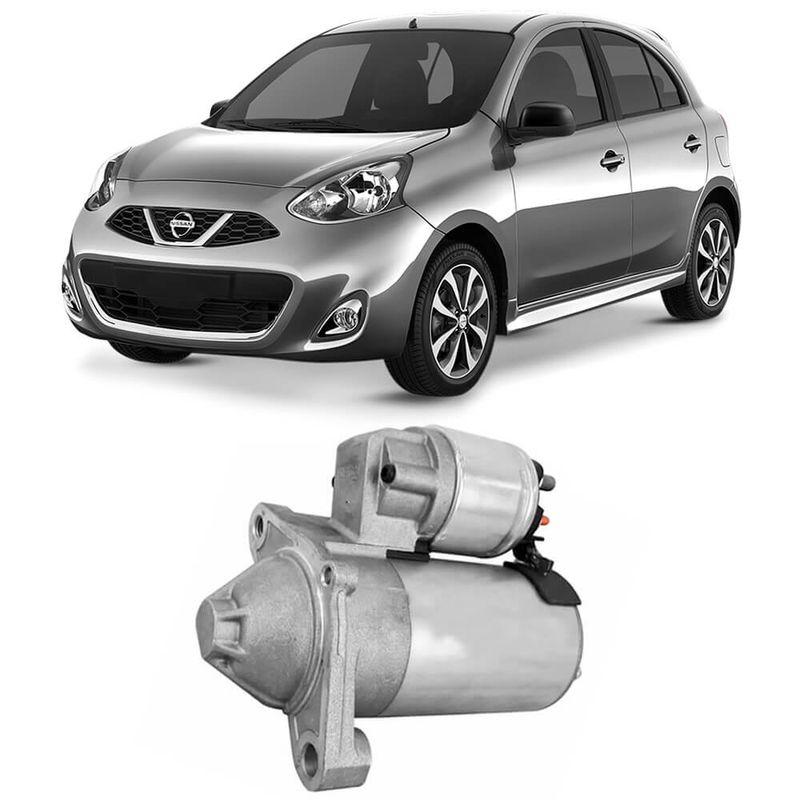 Motor Partida Arranque Nissan March 2012 a 2018 Valeo