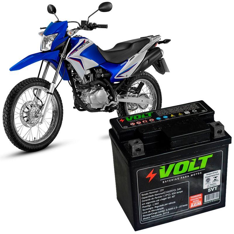Bateria Moto Bros 150 Volt 5VT Selada 5 Amperes 12 Volts