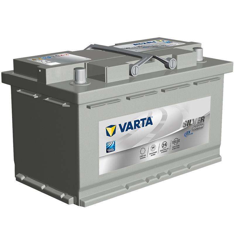 Bateria Carro Varta Selada 80 Amperes 12v Silver AGM Start Stop CCA 800