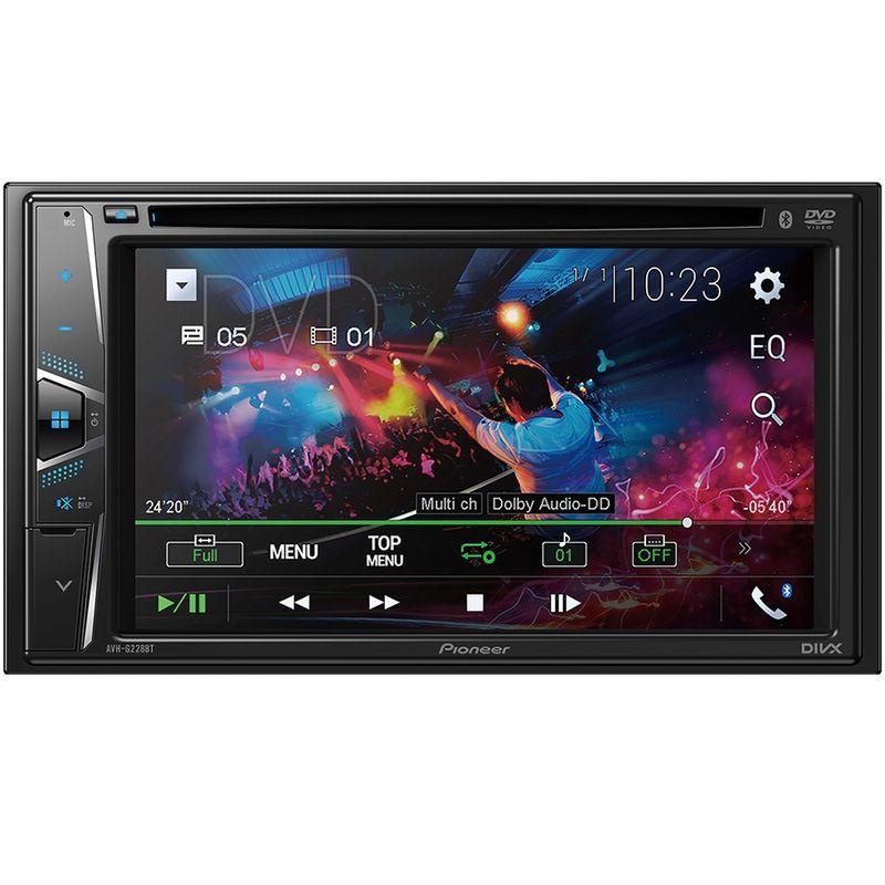 Central Multimídia Pioneer AVHG228BT Tela 6.2 Touch Cd Dvd Bluetooth USB Aux FM