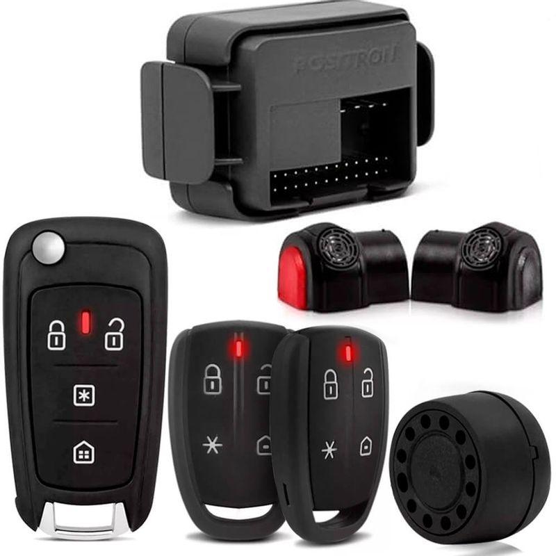 Kit Alarme Cyber Fx360 Universal + Chave Canivete Px80 Controle de Alarme Pósitron