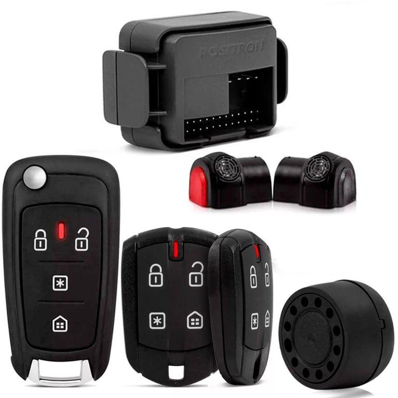 Kit Alarme Cyber Ex360 Universal + Chave Canivete Px80 Controle de Alarme Pósitron