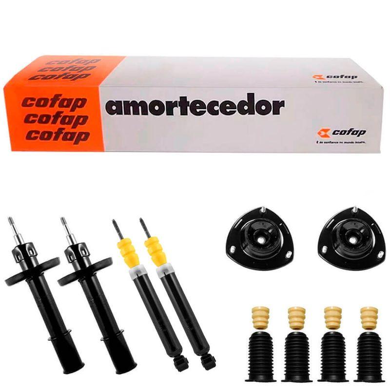 4 Amortecedor Chevrolet Celta 2001 a 2014 Dianteiro Traseiro Cofap e Kit
