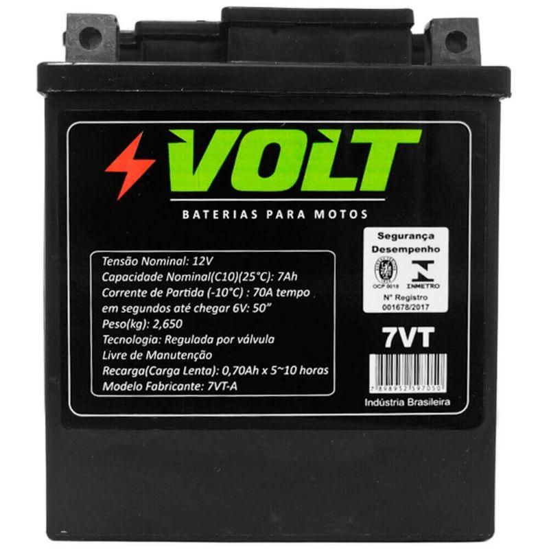 Bateria Moto Honda XR 200 Volt 7VT Selada 7 Amperes 12 Volts