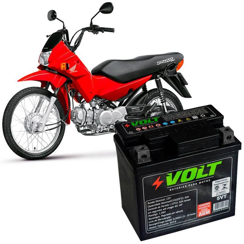Bateria Moto Pop 100 Volt 5VT Selada 5Ah 12v