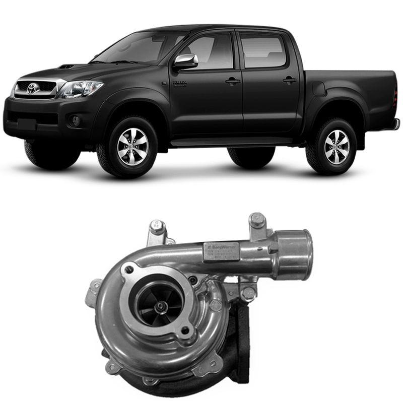 Turbina Motor Toyota Hilux 3.0 D4-D 1KD 2006 a 2015 Sem Atuador Borgwarner