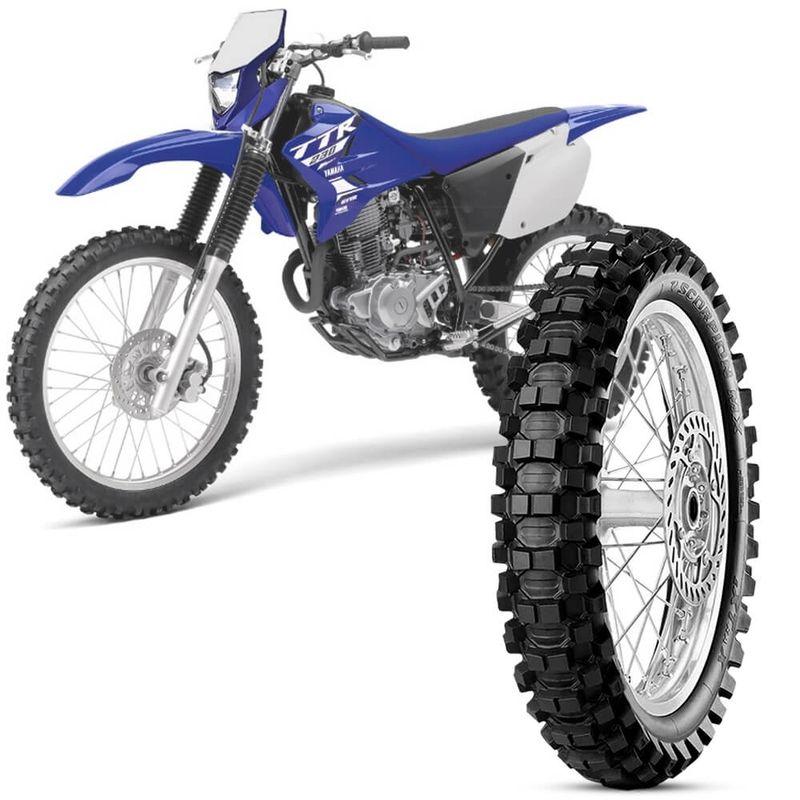 Pneu Moto Yamaha TT-R Pirelli Aro 18 110/100-18 64m Traseiro Scorpion Mx Extra X